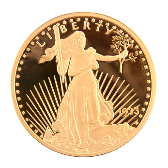 1933 Double Eagle Gold Coin.